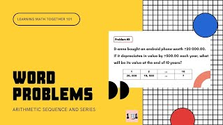 WORD PROBLEMS about Arithmetic Sequence and Series | LMT101