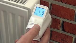 Basisinstellingen HR92 radiatorregelaar   Honeywell Home