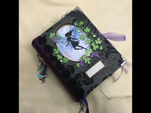 Design Team (DTP): Puddle Lane Papers: Handmade Fairy Silhouette Junk journal flip through (fantasy)