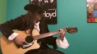 "Intro ""Wanted Dead Or Alive"" Bon Jovi  Takamine EG345C"