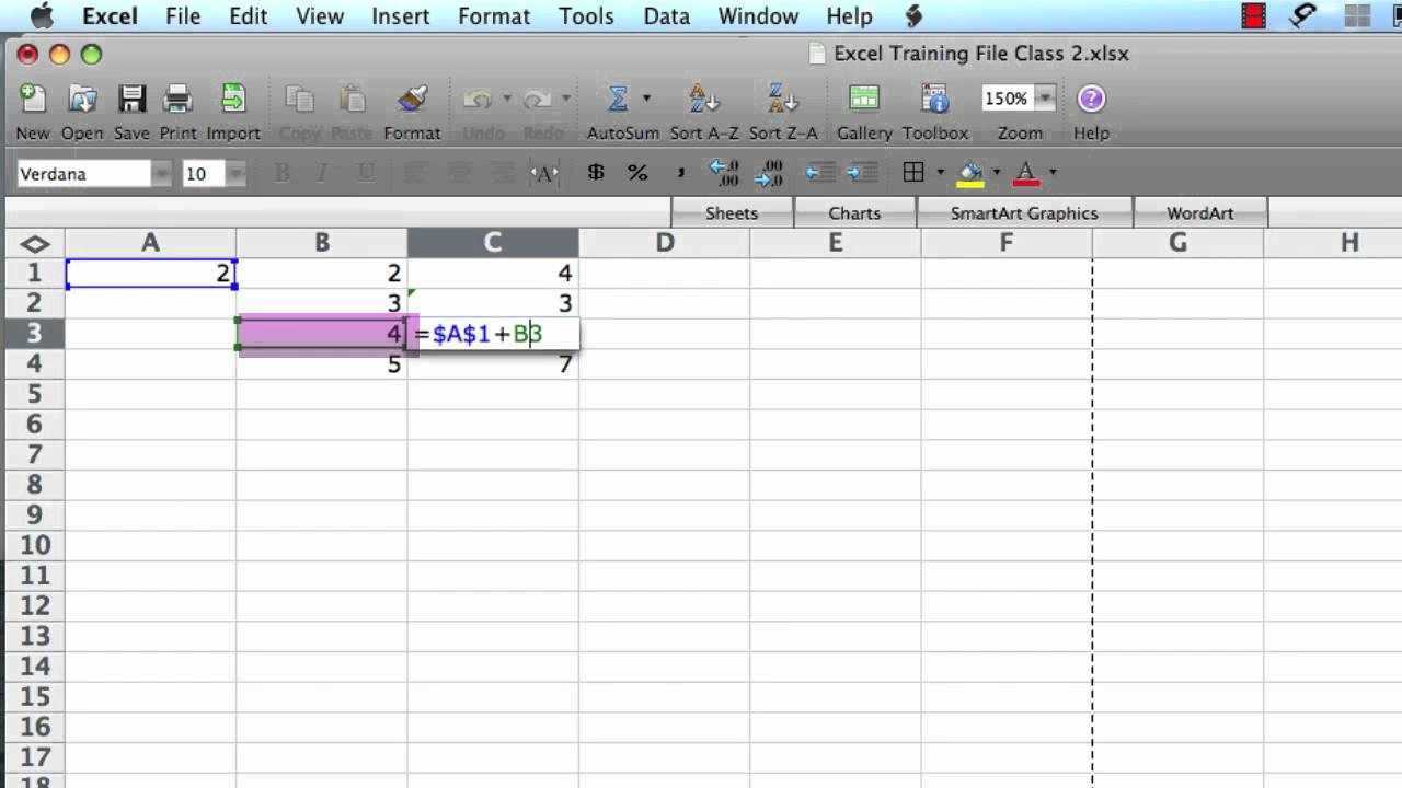 Excel 2008 For Mac- Relative And Absolute Cell References