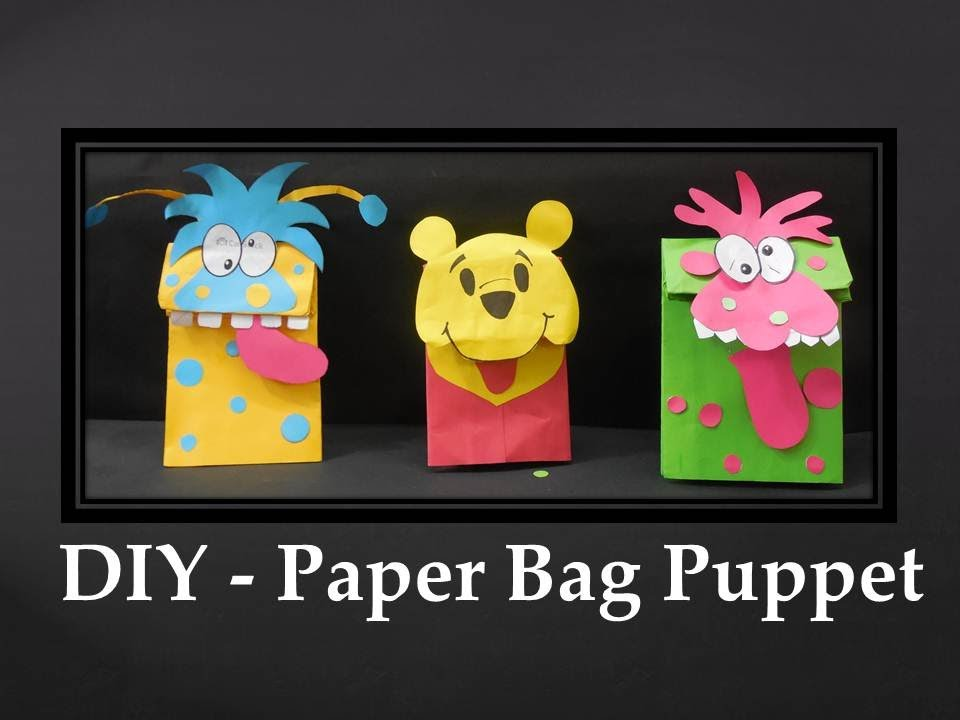 DIY - How to make Paper Bag Puppet - YouTube