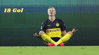 Erling Braut Haaland Şampiyonlar Ligi tüm golleri- 13 maç 18 gol