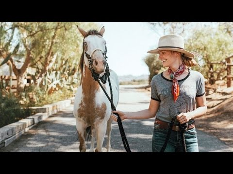 Beth Behrs with her Adoreable Horse