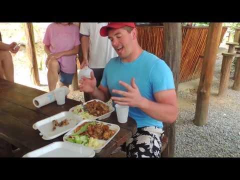 iguana-eating-challenge-in-roatan,-honduras!!