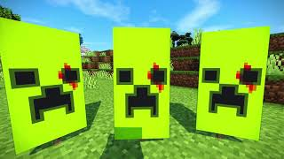 MİNECRAFT HOW TO CRĄFT BLOODY CREPER BANNER !!