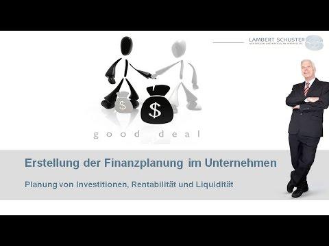 Anleitung zu Erstellung einer Finanzplanung für Unternehmer und Existenzgründer