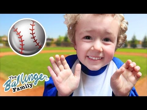 Parker's First Time Playing Baseball!