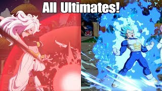 Dragon Ball FighterZ All Ultimate Attacks Total Damage and Animations In The Game!