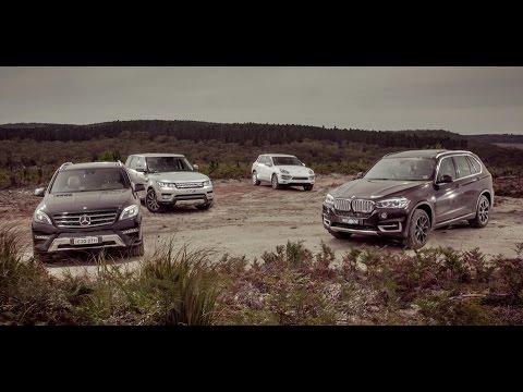 Bmw X5 vs Range Rover Sport vs Porsche Cayenne  2014 range rover