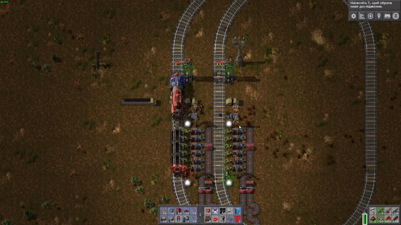 Factorio: Tight unloading station design - YouTube