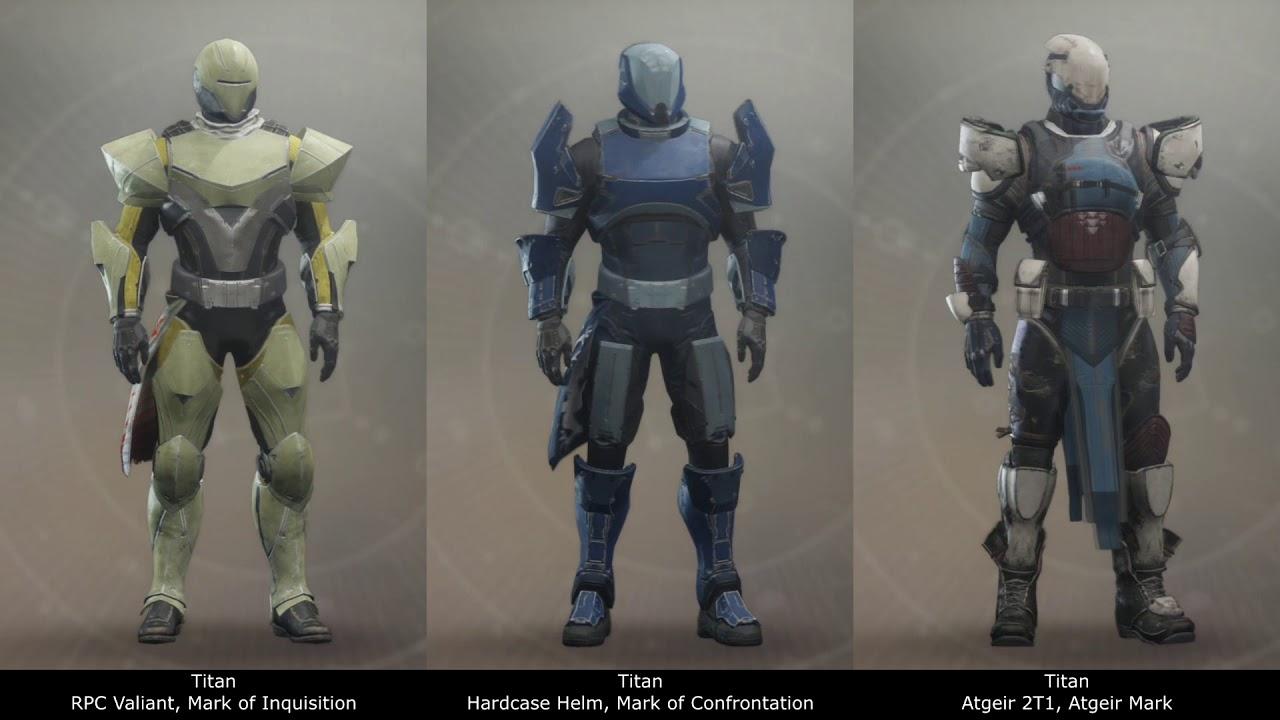 Destiny 2 Titan Armor Progression Test
