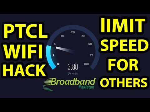 How to Limit WiFi Speed for others on PTCL router | Control Bandwidth via  PTCL Modem [URDU]
