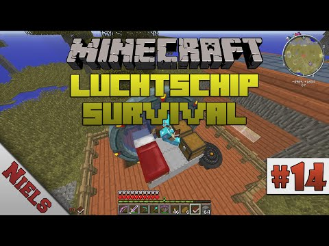 Minecraft: Luchtschip Survival - #14 - Puddle Jumper 1! (Ned