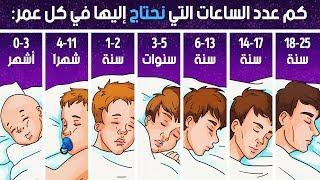تفسير العلم لعدد ساعات النوم التي تحتاجها وفقاً لعمرك