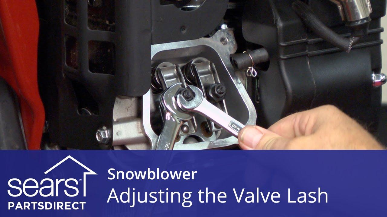 How to adjust a snowblower valve lash | Repair guide
