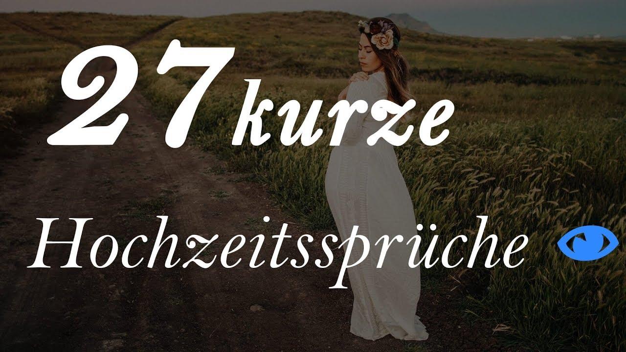 27 kurze Hochzeitssprüche 2017 - YouTube