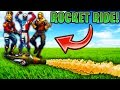 THREE PERSON ROCKET RIDE on Fortnite: Battle Royale! (FUNNY MOMENTS!)
