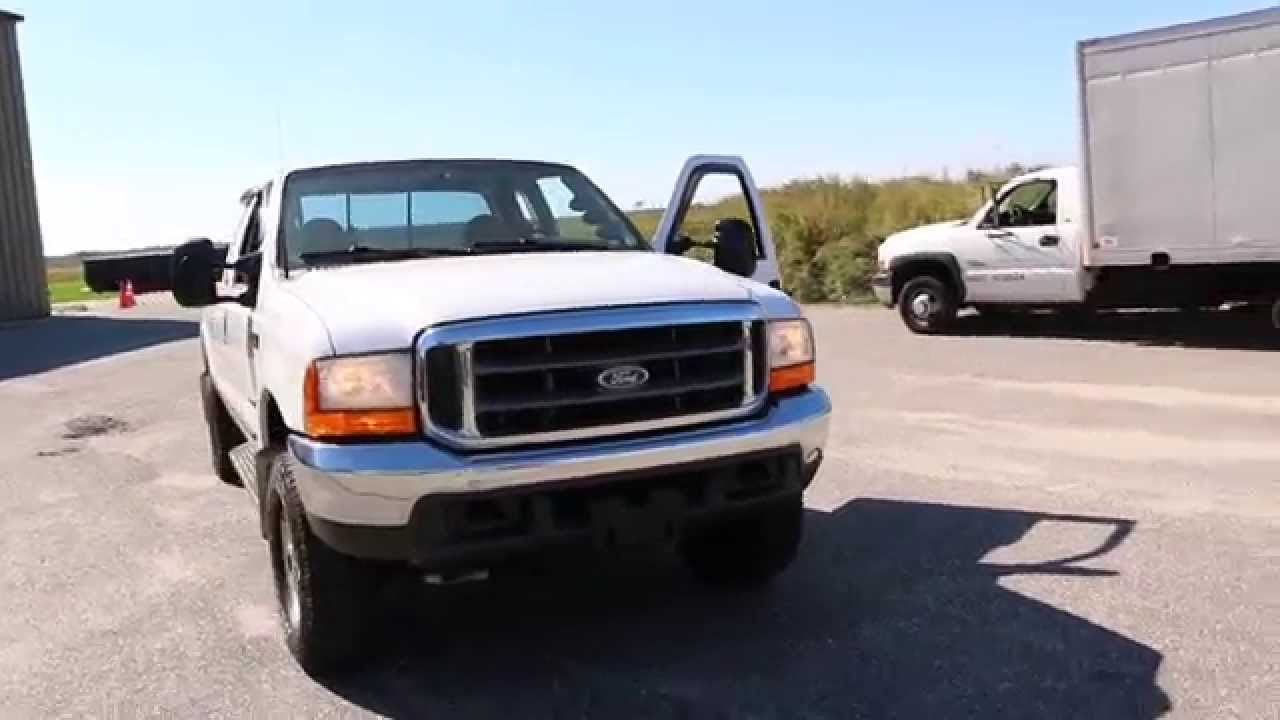 Sold2000 ford f250 super duty ext cab for salerare 7 3l dieselwhite super clean