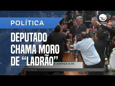 """DEPUTADO CHAMA MORO DE """"JUIZ LADRÃO"""" E SESSÃO TERMINA EM CONFUSÃO NA CÂMARA"""