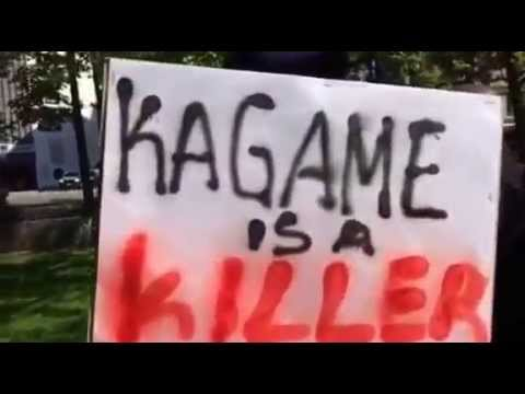 Protesting against Kagame in Oslo 07 July 15