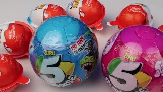Zuru 5 Sürpriz Top 5 Surprise Egg! 5 Sürpriz Yumurta vs KinderJoy Kızlar vs Erkekler Bidünya Oyuncak