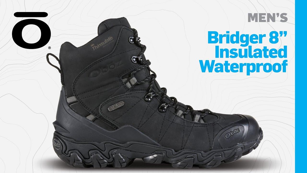 Oboz Mens Bridger 8 Insulated Waterproof Boot