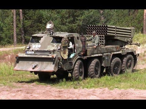 Army offroad truck 8x8 Tatra RM 70 Grad multiple rocket launcher