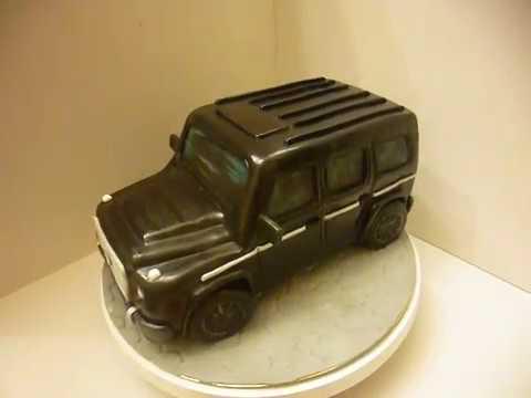 192Как сделать торт в форме машины