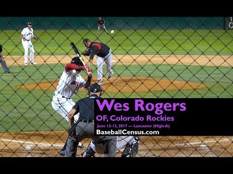 Wes Rogers, OF, Colorado Rockies — June 12-13, 2017