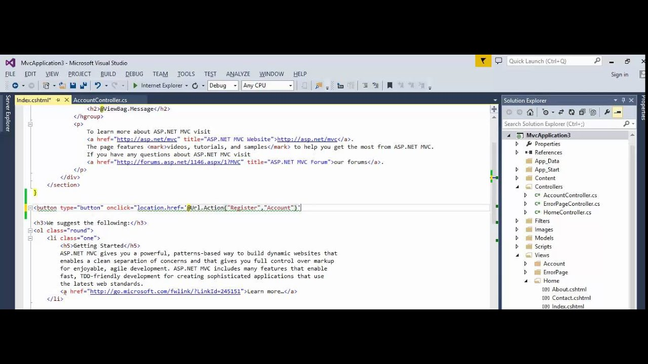 MVC - How to create button with action link