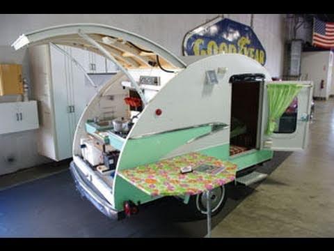 Vintage Teardrop Camper With 1956 Parklane Trim