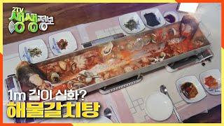 [2TV 생생정보] 길이 1m 실화? 1미터 철판을 가득 채운 ☆해물갈치탕☆ | KBS 210113 방송