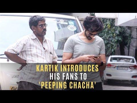 Kartik Aaryan Introduces Fans To His 'Peeping Chacha' | SpotboyE Mp3