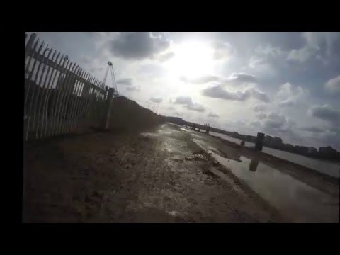 Thames Path cycle route Erith to Greenwich Time-lapse
