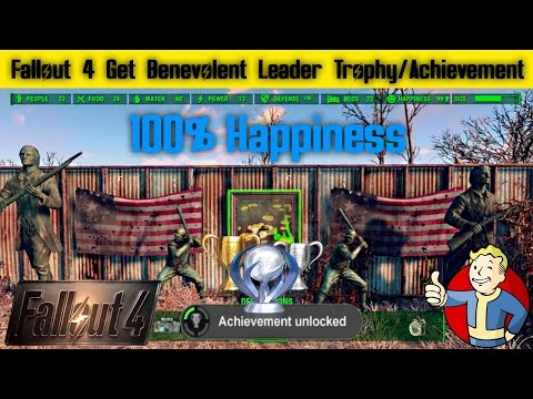 Fallout 4 How To Get Benelvolent Leader Trophy Achievement