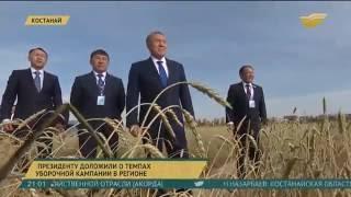 Глава государства прибыл с рабочим визитом в Костанайскую область