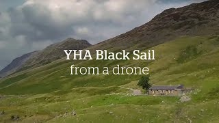YHA Black Sail Hostel | Drone Footage | Remote hostel accessible only on foot