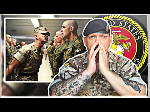 British Army Soldier Reacts to US Marine Corps Boot Camp