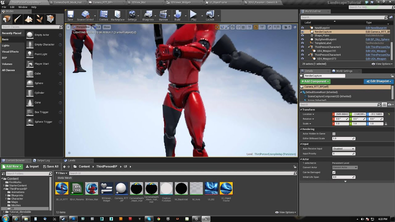 UE4 Render Object to UI