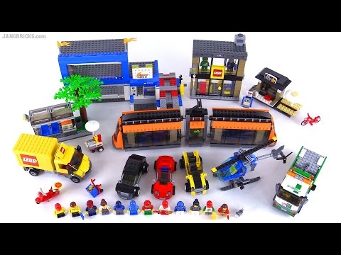 Lego city square full review 2015 set 60097 youtube for Case lego city