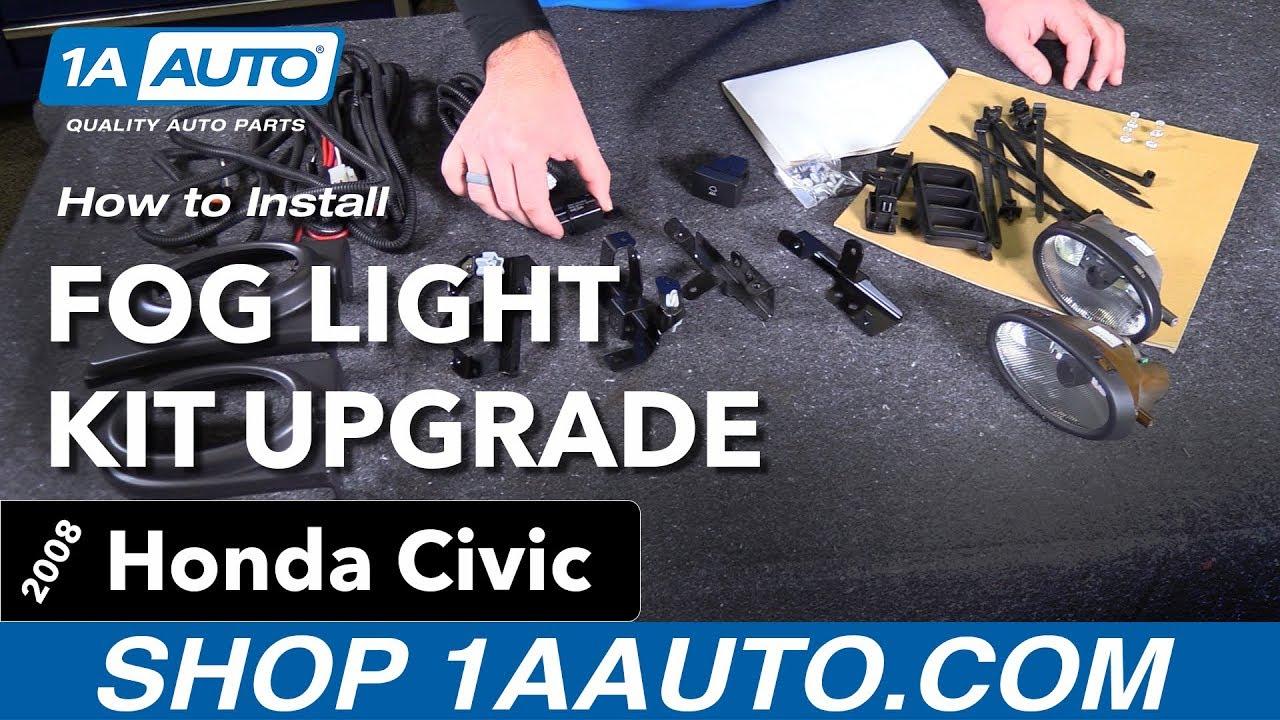 hight resolution of how to install fog light kit upgrade 06 08 honda civic