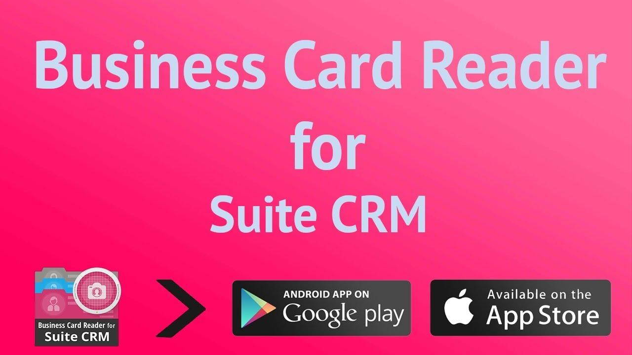 Business Card Reader for Suite CRM - YouTube