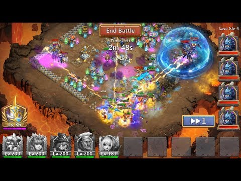Lava Isle 4 Random Team With COSMO Castle Clash