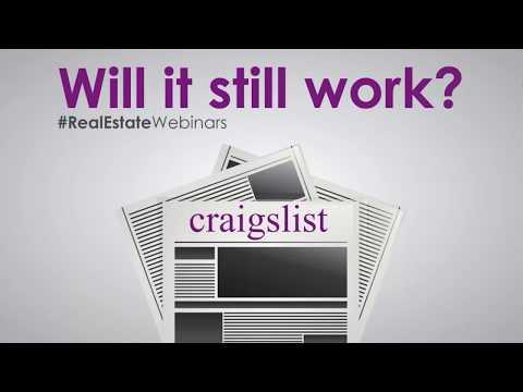 Real Estate Classified Ads using Craigslist Webinar