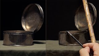 Oil Painting Demo - Painted from Life - Wet in Wet - Silver Container