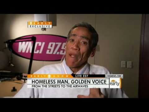 ★GOLDEN★  Homeless Man Ted Williams with Radio Voice Getting Job Offers