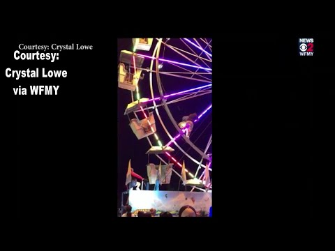 RAW VIDEO: 3 different clips of NC worker falling from Ferris wheel