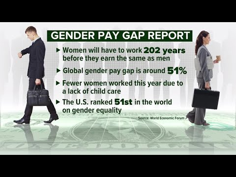 Gender pay gap may persist for 200 years, report finds