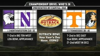 Northwestern vs Tennessee in Outback Bowl 2016